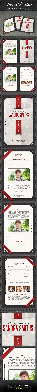 Funeral Program Brochure Template V05 - Informational Brochures