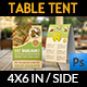 Baklava Table Tent Template - GraphicRiver Item for Sale