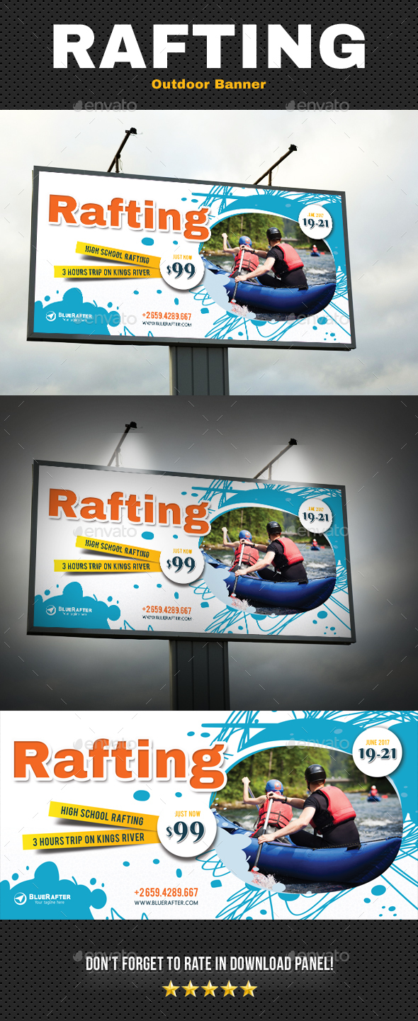 Rafting Outdoor Banner - Signage Print Templates