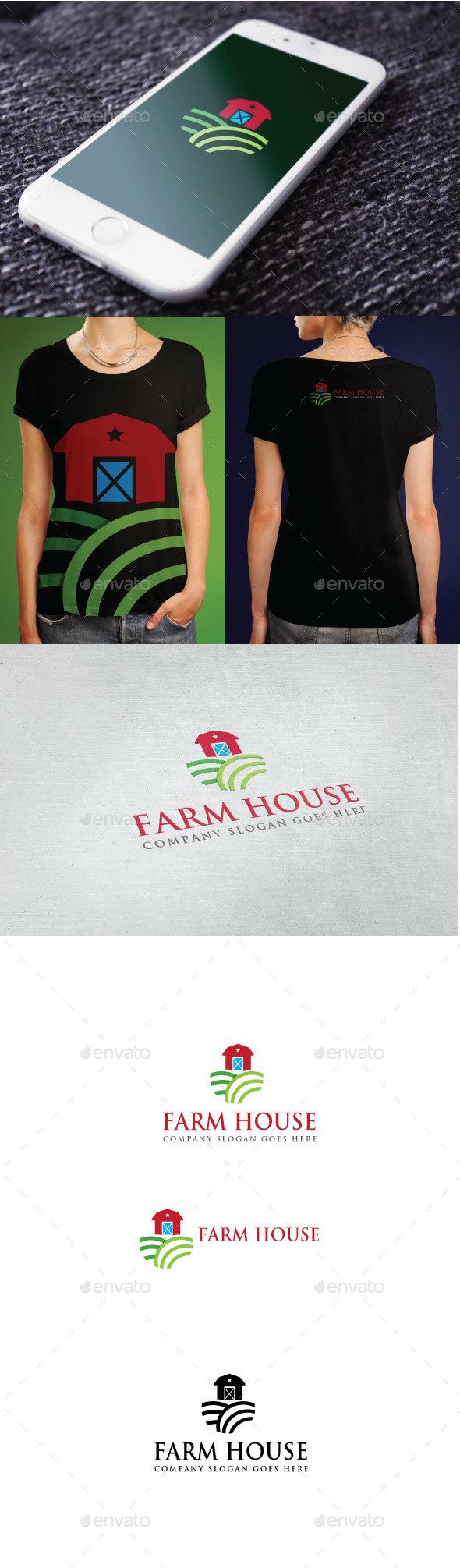 Farm House Logo - Nature Logo Templates