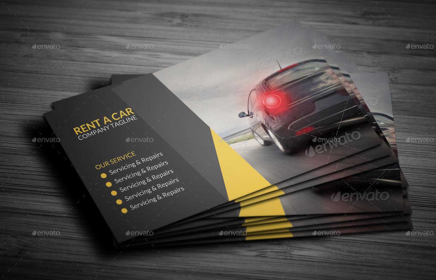 Rent A Car Business Card Bundle by vejakakstudio   GraphicRiver