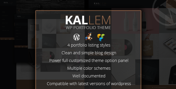 Kallem - Creative Portfolio WordPress Theme - Portfolio Creative