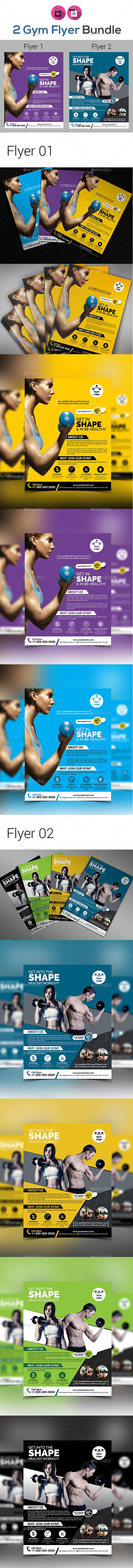 Gym Flyer Or Fitness Flyer Bundle V5