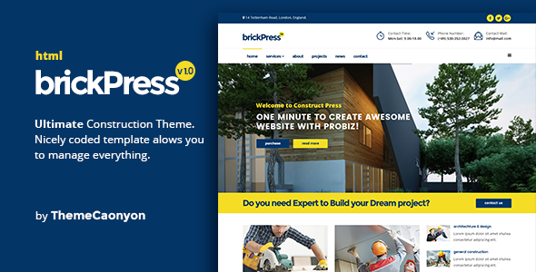 BrickPress – Construction & Building HTML5 Template