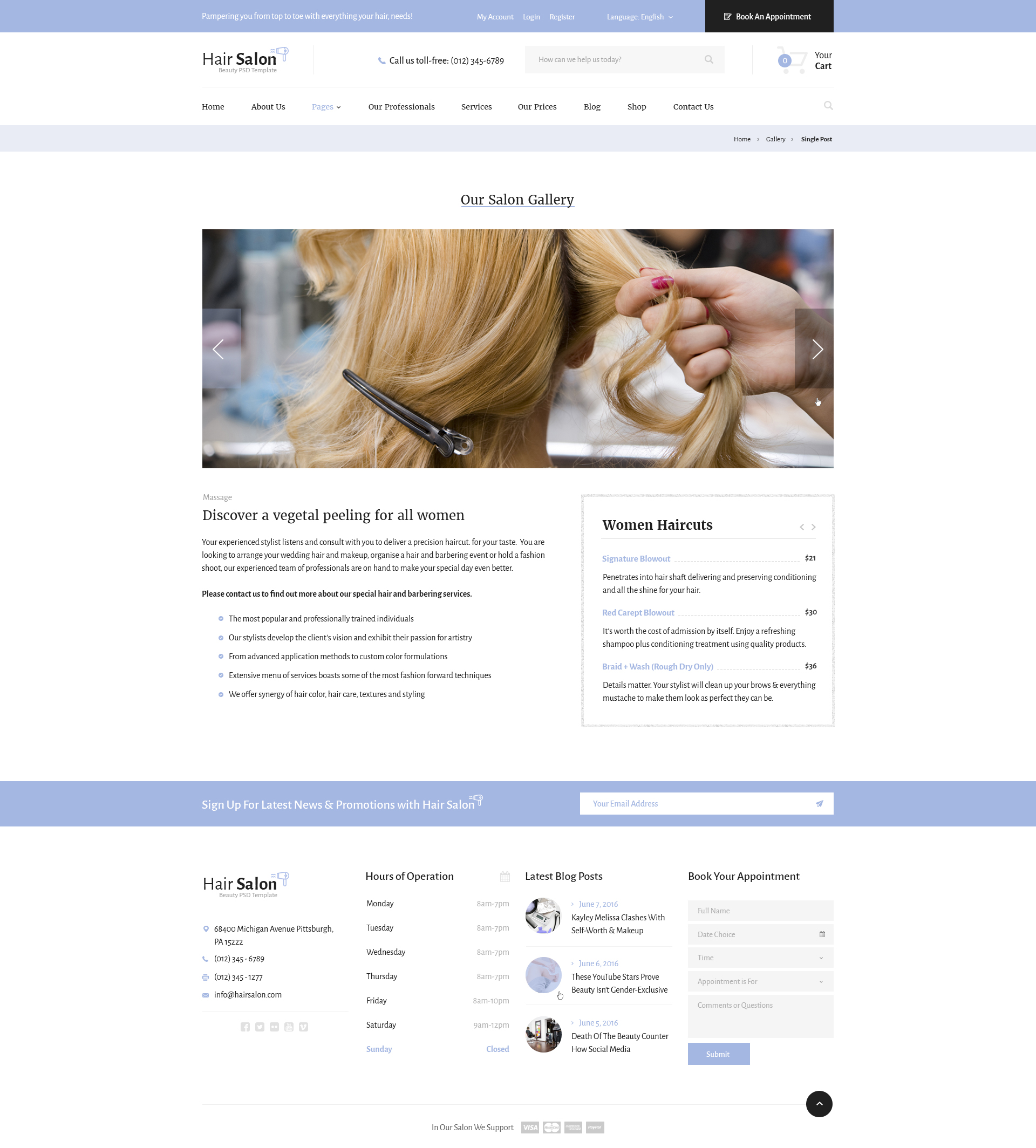 cosmetology portfolio template - hair salon beauty psd template by diadea3007 themeforest