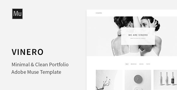 Vinero – Very Clean and Minimal Muse Portfolio Template