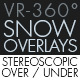 Snow Overlay VR-360° Editors Pack (StereoScopic 3D Over-Under) - VideoHive Item for Sale