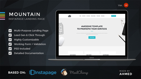 Mountain - Marketing Instapage Template