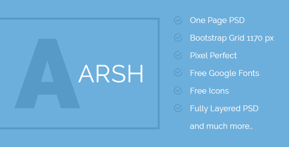 ARSH – Corporate Multipurpose One Page Template