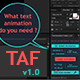 TAF v1.0 - Pro Text Animator for AE - VideoHive Item for Sale