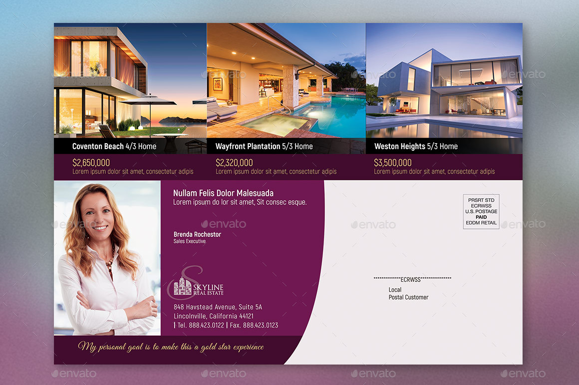 real estate eddm flyer template by godserv2 graphicriver. Black Bedroom Furniture Sets. Home Design Ideas