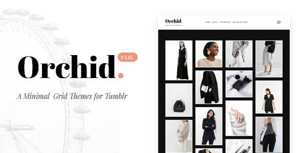 Orchid | Minimal Grid Tumblr Theme