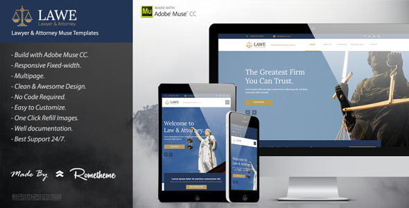 LAWE – Lawyer and Attorney Muse Template
