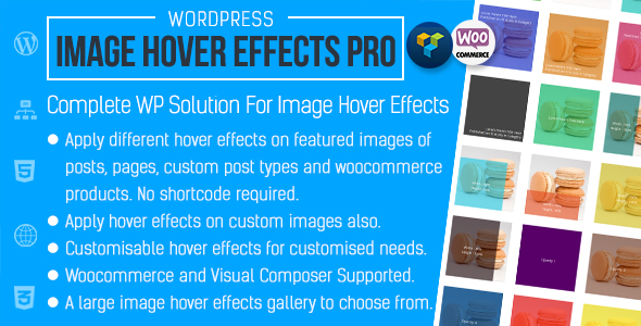 Advanced Image Hover Effects for WordPress - CodeCanyon Item for Sale