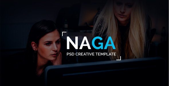 NAGA – One Page PSD Template
