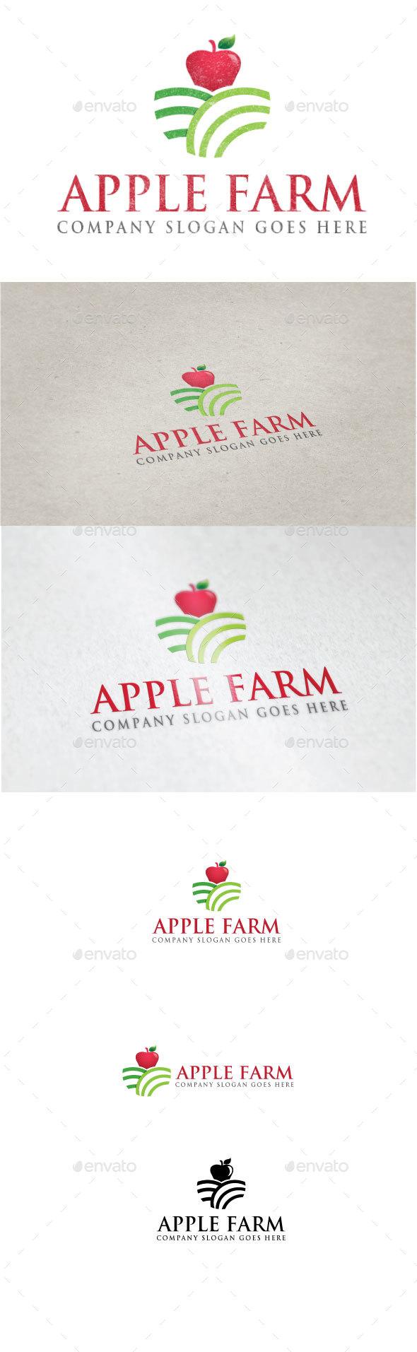 Apple Farm Logo - Nature Logo Templates