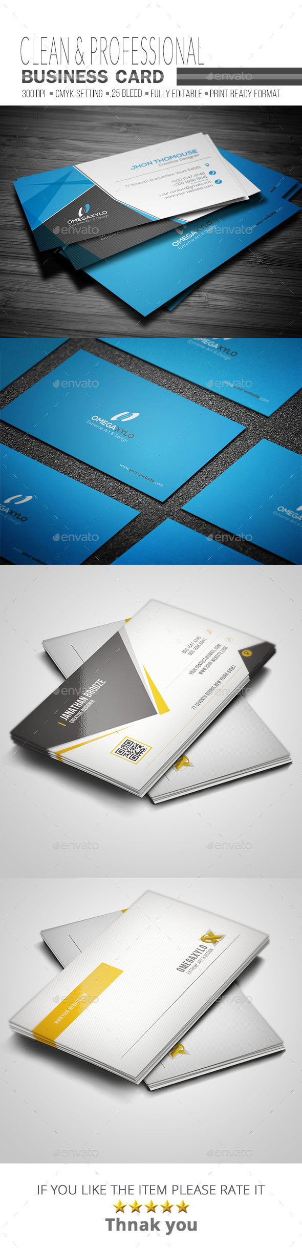 Business Card Bundle ( 2 In 1) - Corporate Business Cards