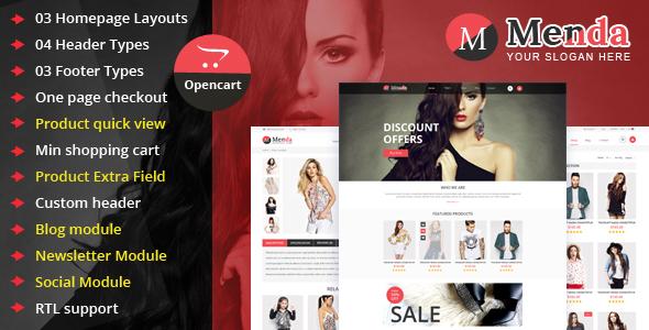 Menda – Advance Opencart Theme