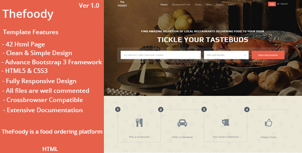 Thefoody - Multiple Restaurant System HTML Template