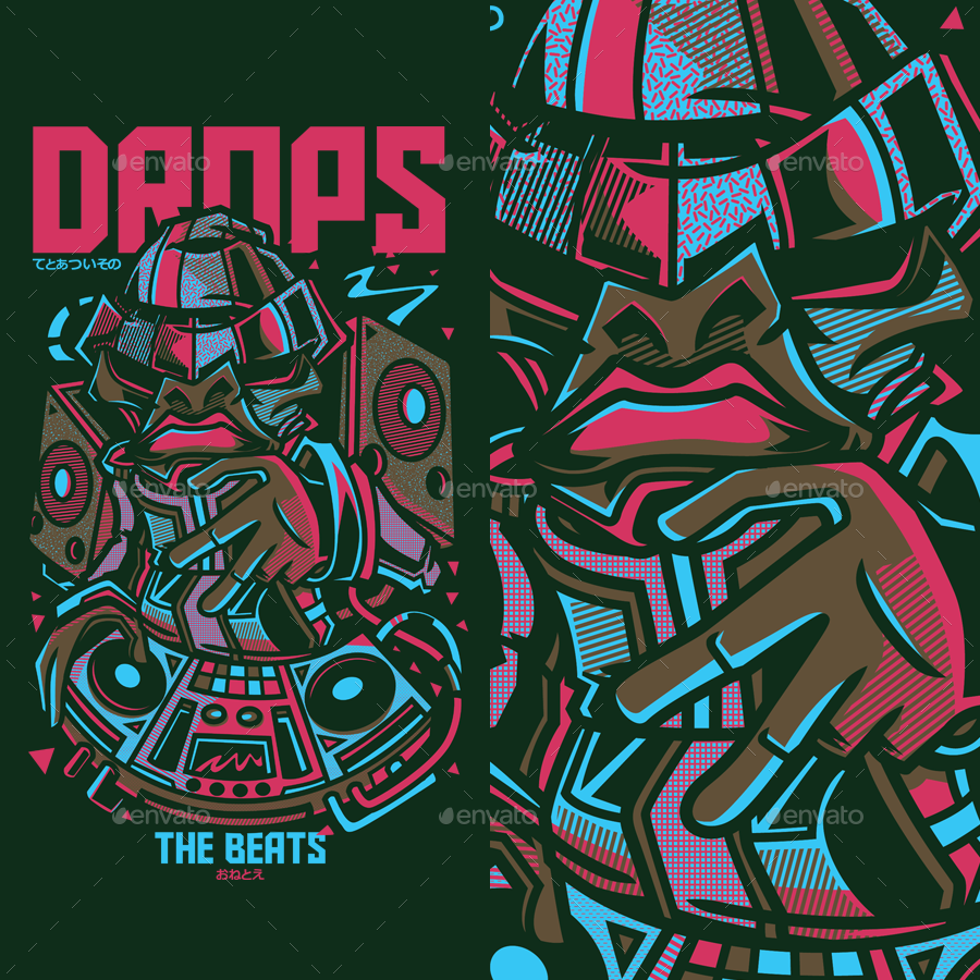 Drops the Beats T-Shirt Design