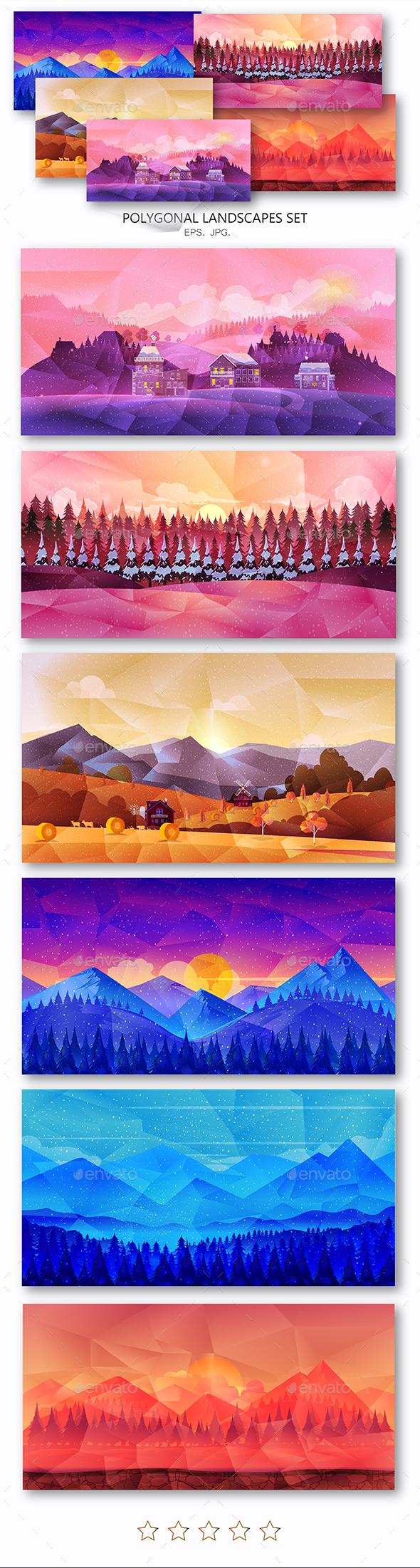 Polygonal Landscapes - Nature Conceptual