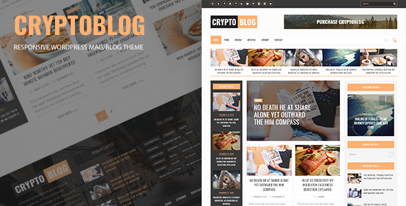 Cryptoblog - Responsive Mag/Blog WordPress Theme