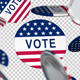 Presidential Election Button Falling - VideoHive Item for Sale