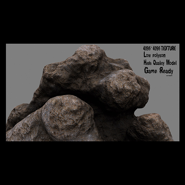 rock 12 - 3DOcean Item for Sale