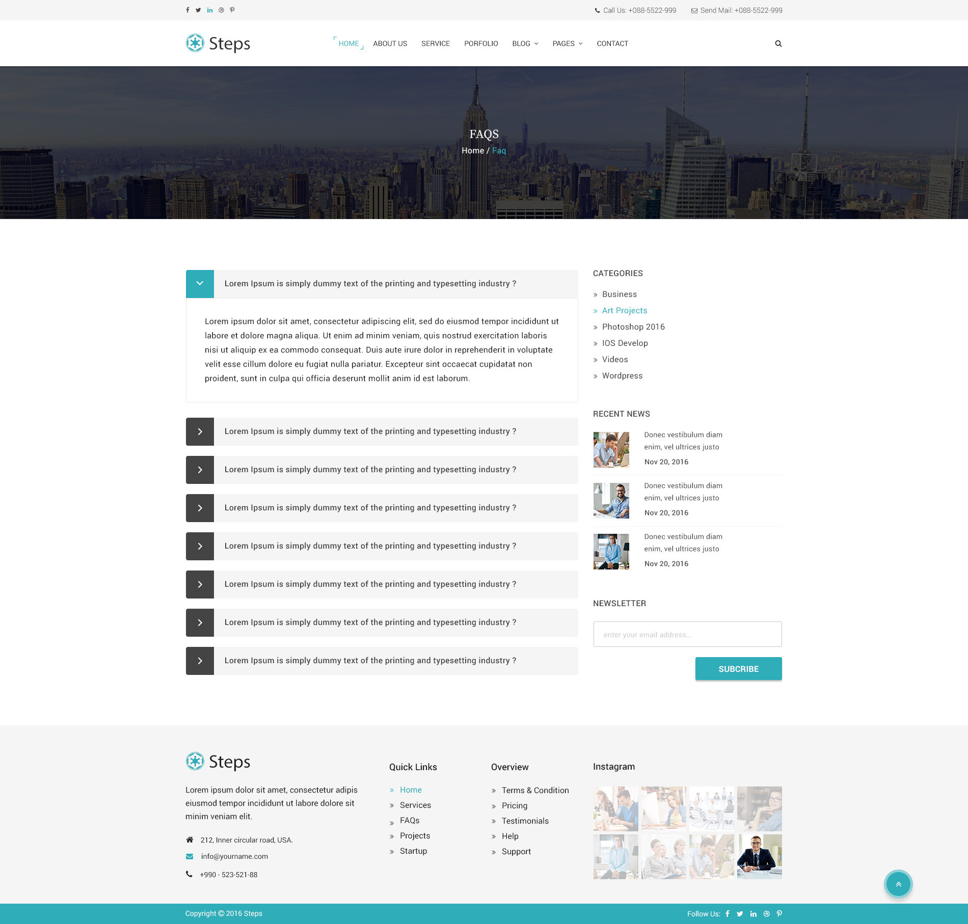 Steps - Modern Corporate PSD Template by BootScore | ThemeForest