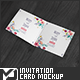 Square Invitation / Greeting Card Mock-Up - GraphicRiver Item for Sale