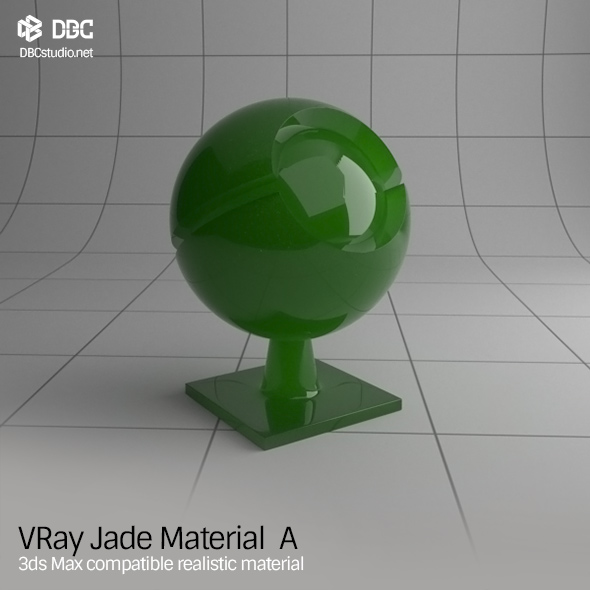 3ds Max V-Ray (Ver 3.4) Jade Material A - 3DOcean Item for Sale