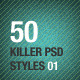 50 Killer PSD Styles 01 - GraphicRiver Item for Sale