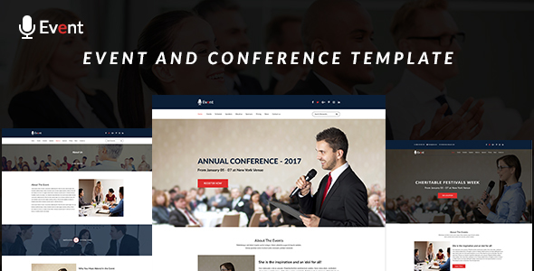 Event- An Event and Conference PSD Template