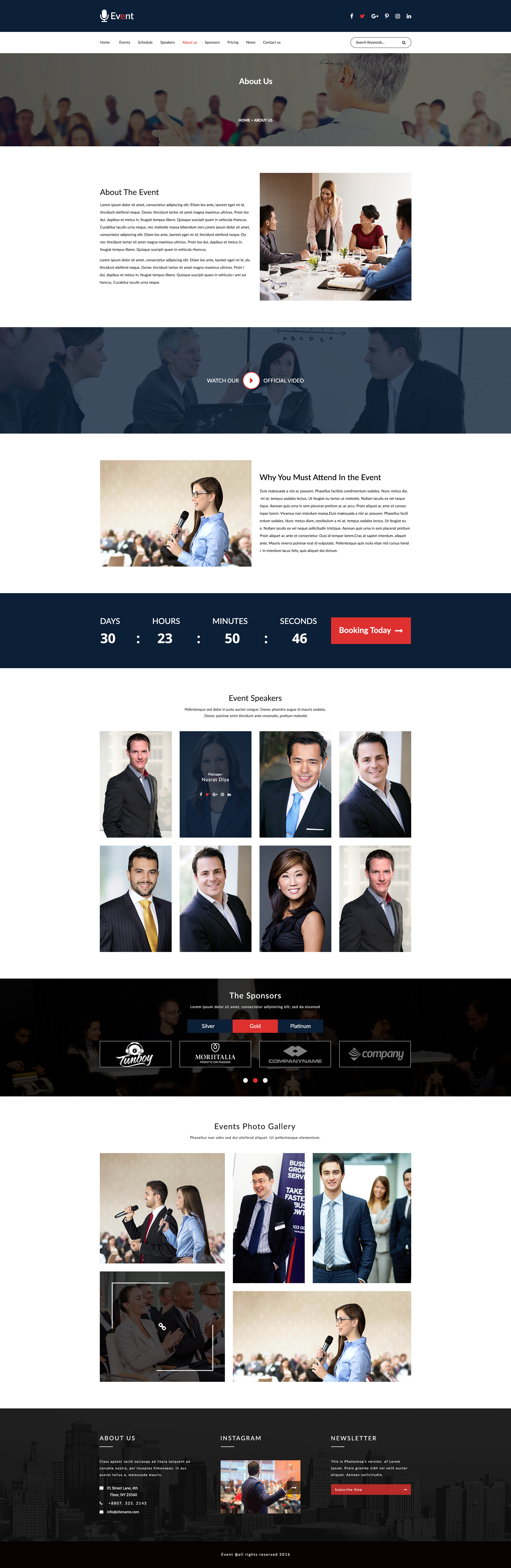 event an event and conference psd template by wowsketch themeforest