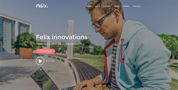 Felix. – App | Service Landing Page