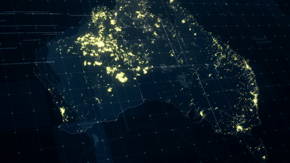 Australia map at night hd by rodionova videohive play preview video gumiabroncs Image collections
