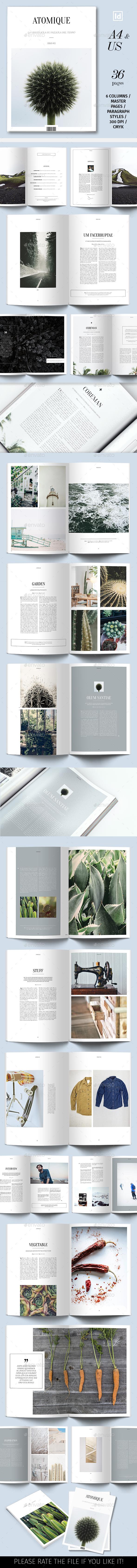 Atomique Magazine Template - Magazines Print Templates