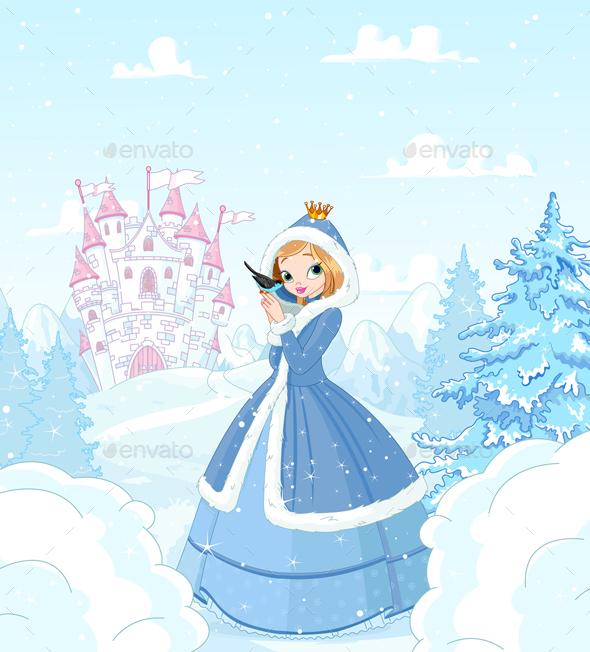 Winter Princess - Characters Vectors