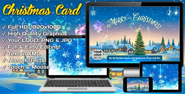 Christmas Card - Super Fireworks - CodeCanyon Item for Sale