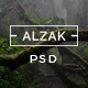 ALZAK - One Page Creative PSD - ThemeForest Item for Sale