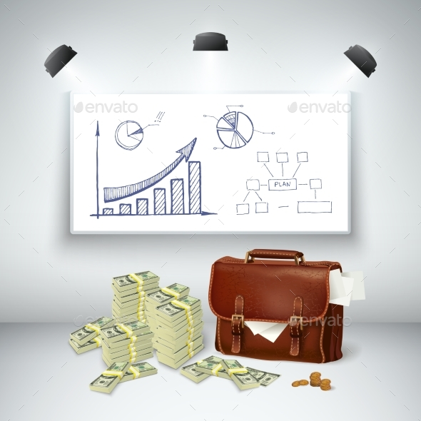 Realistic Business Financial Template - Abstract Conceptual