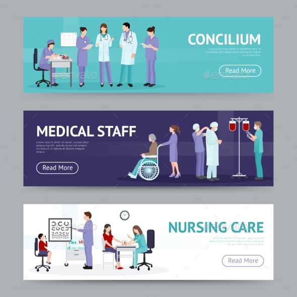 Medical Care Horizontal Banners - Abstract Conceptual
