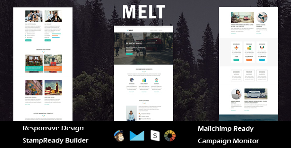 Image of Melt - Multipurpose Responsive Email Template + Stampready Builder