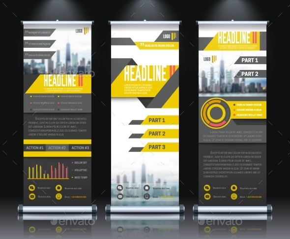Report Rollup Banners Set - Business Conceptual