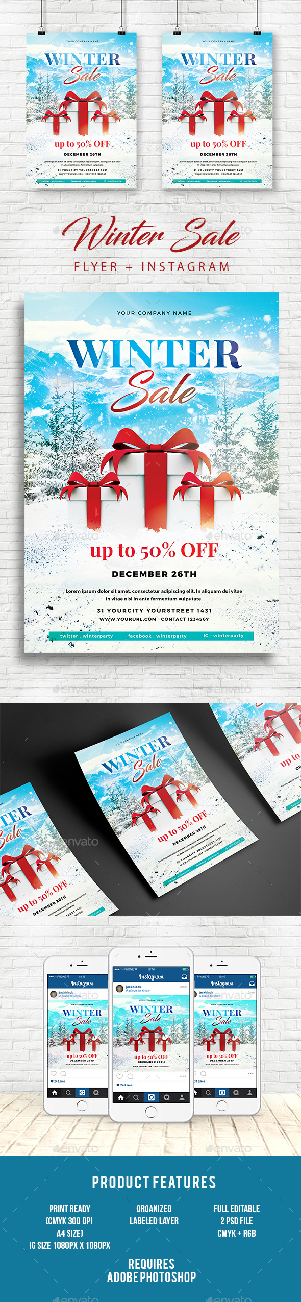 Winter Sale Flyer - Events Flyers