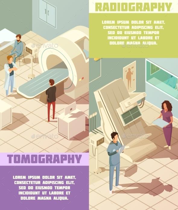 Hospital Banners Set - Health/Medicine Conceptual
