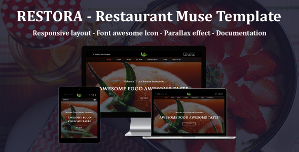 RESTORA - Restaurant Responsive Muse Template - Corporate Muse Templates
