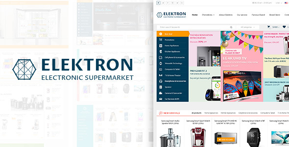 Elektron - Multi-Purposes Electronics PSD Template - Electronics Technology