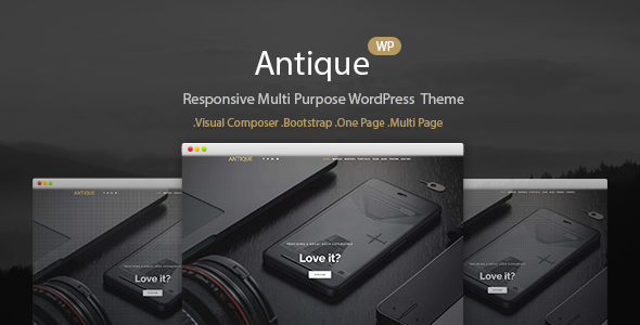 Antique - Responsive Multi-Purpose WordPress Theme - Portfolio Creative