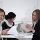 Group of Young Business Women Working with Tablet in a Meeting at Office - VideoHive Item for Sale